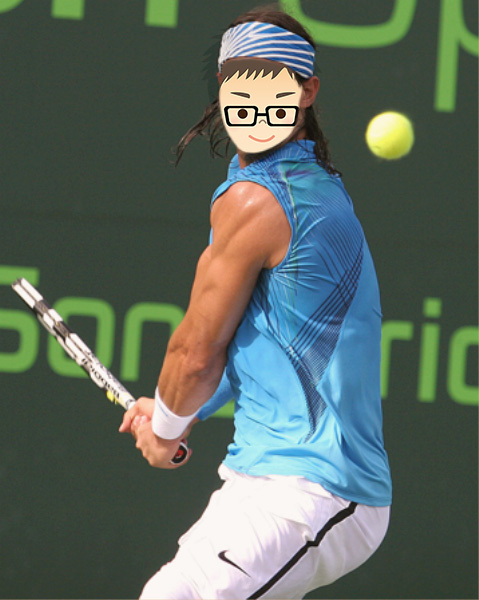 Tennis Player Face In Hole - Tennis Player Face In Hole